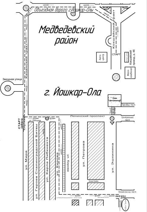 Ниже приводится схема маршрута