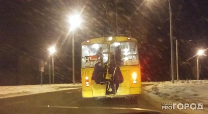 Дети, цепляющиеся за троллейбус, пугают йошкар-олинских водителей