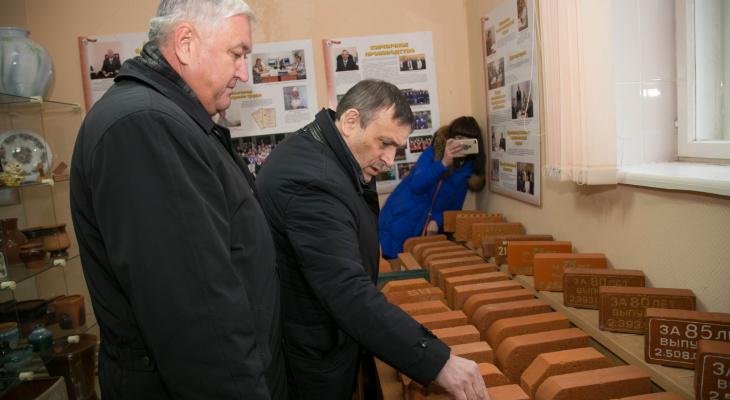 Глава региона побывал на йошкар-олинском кирпичном заводе