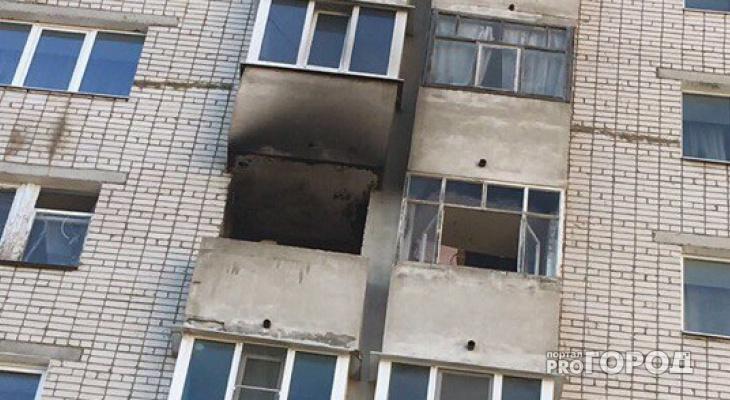 Пожар в Йошкар-Оле: перепуганные соседи колотили в дверь полыхающей квартиры