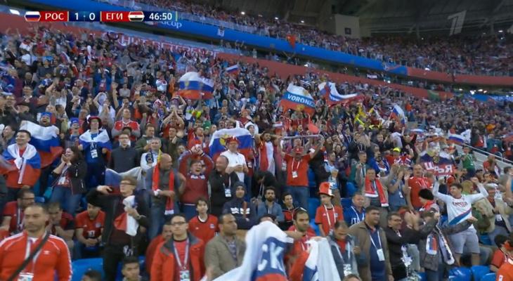 Йошкар-олинские фанаты «засветились» в прямом эфире матча «Россия – Египет»