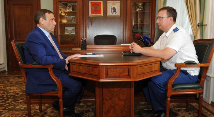 Глава Марий Эл и природоохранный прокурор обсудили экологию Марий Эл