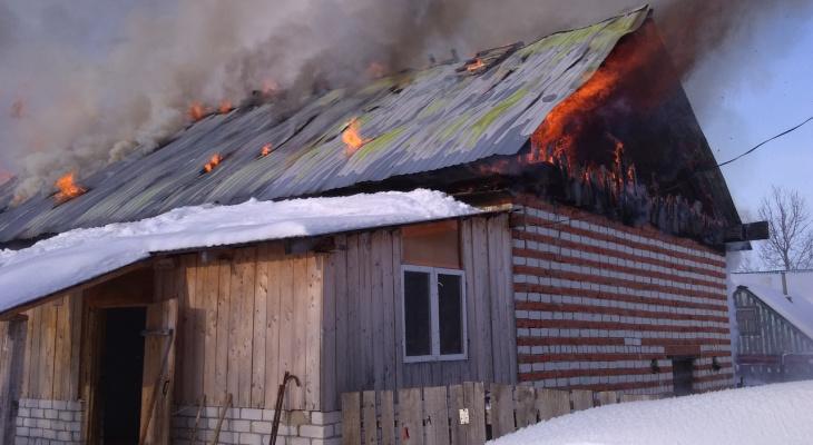Трагедия в Марий Эл: в сгоревшем доме нашли тела бабушки и внука