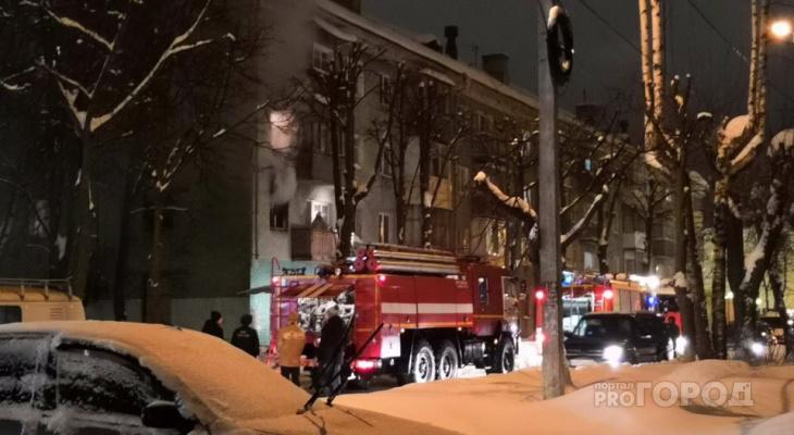 В центре Йошкар-Олы полыхала квартира с жильцами (ВИДЕО + ФОТО)