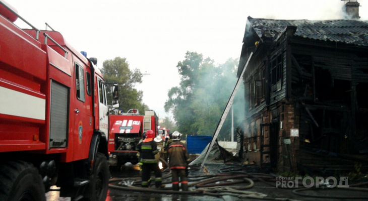 В Йошкар-Оле пожарные дважды выезжали на тушение частного дома