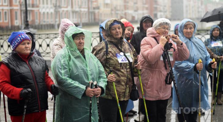 Пешком по Йошкар-Оле: самые спортивные люди республики стали участниками соревнований по скандинавской ходьбе