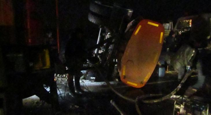 На трассе Йошкар-Ола-Уржум перевернулся бензовоз: что стало причиной?