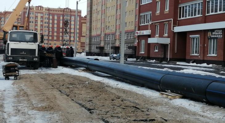 В столице Марий Эл заменяют аварийные магистральные трубы