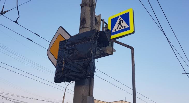 Светодиодный ограничитель скорости на Ленинском проспекте «прикрыли»: йошкаролинцы были недовольны