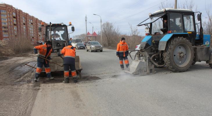 За сутки в Йошкар-Оле залили литым асфальтом три улицы