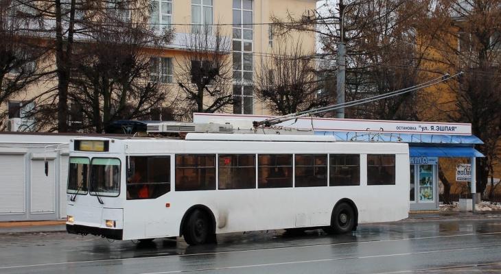 Троллейбус №7 в Йошкар-Оле с мая изменит маршрут