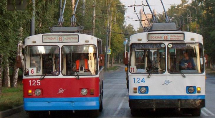 В Йошкар-Оле с понедельника продлят режим работы троллейбусов на линии