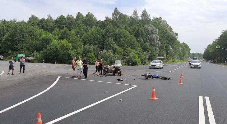 Известны обстоятельства серьезного ДТП в Марий Эл с мотоциклистами