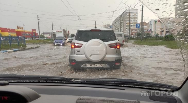 Йошкар-Олу «затопило»: пешеходы и водители возмущены отсутствием ливневок