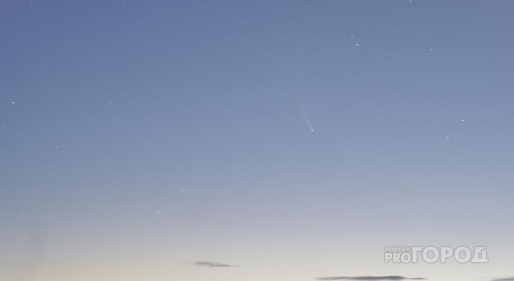 Йошкаролинка запечатлела ярчайшую комету