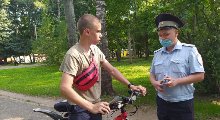 В Йошкар-Оле велосипедисты оказались под пристальным вниманием ГИБДД
