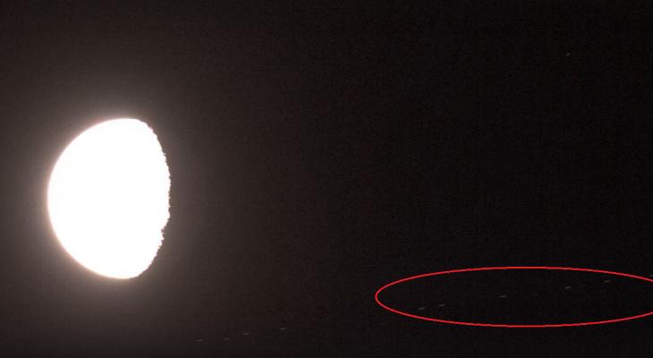 Ночью йошкаролинцы могут наблюдать над Луной «паровозик»