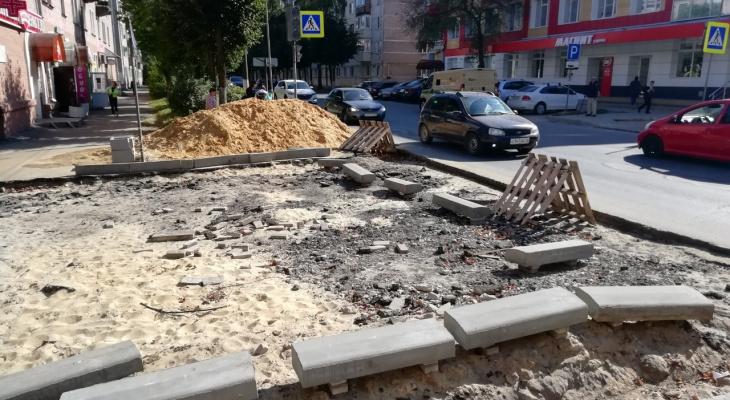 В Йошкар-Оле продолжаются работы по благоустройству города