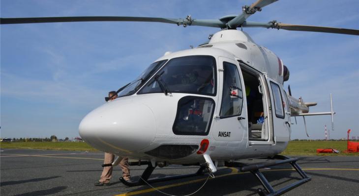 Санитарный вертолет впервые вылетел в Марий Эл