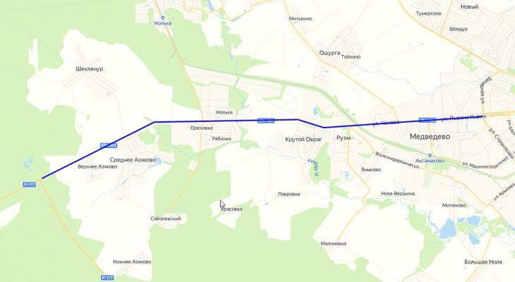 В Марий Эл появился участок дороги под названием «Подъезд к Йошкар-Оле»