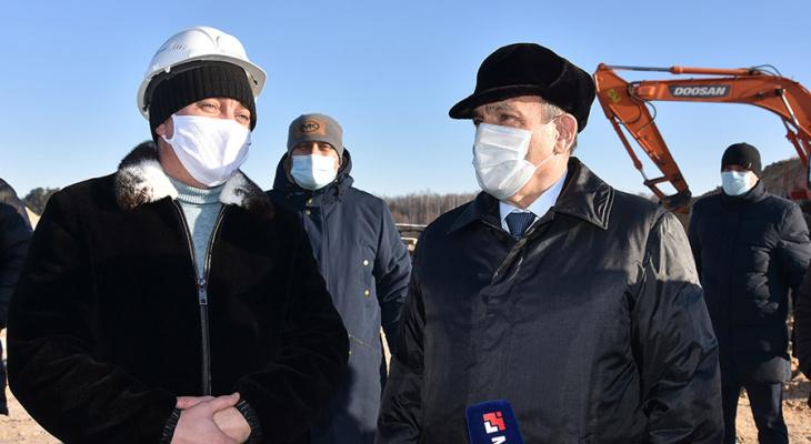 Глава Марий Эл оценил ход строительства объездной дороги в створе улиц Кирова-Строителей