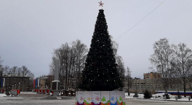 Центр Йошкар-Олы украсила еще одна праздничная елка