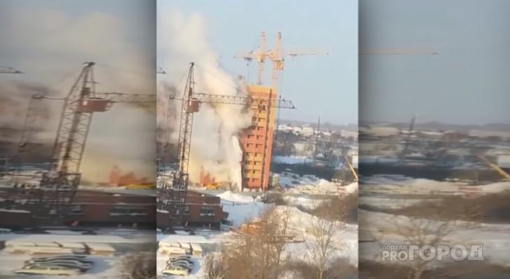 «Пар столбом»: в йошкар-олинской новостройке пробило трубу с горячей водой