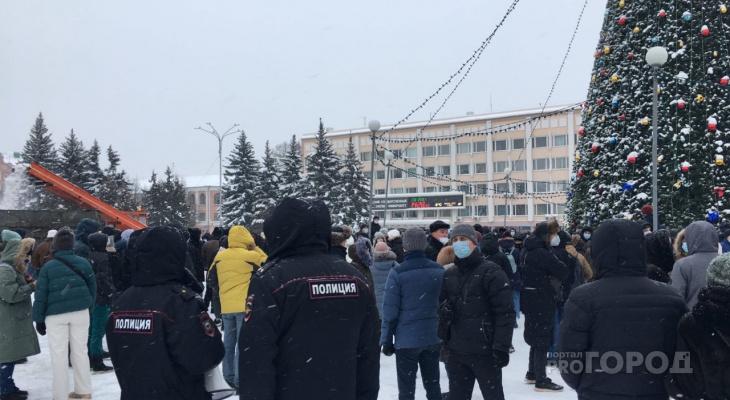 В центре Йошкар-Олы собралась толпа