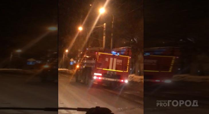 Ночью в центре Йошкар-Олы горела квартира