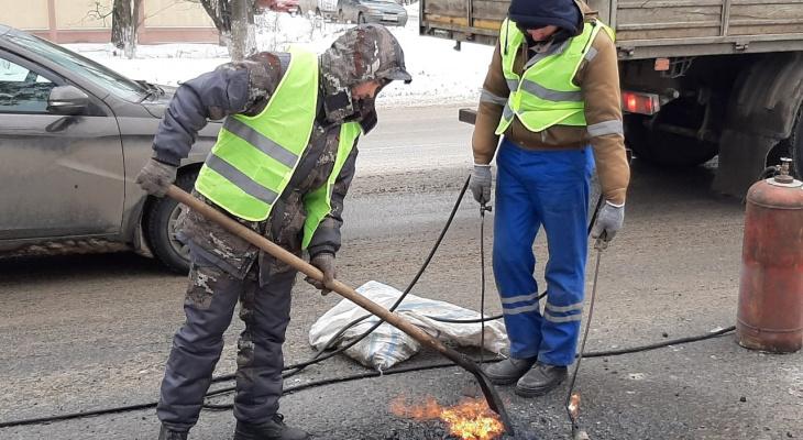 В последнюю неделю марта в Йошкар-Оле отремонтируют 10 участков дорог