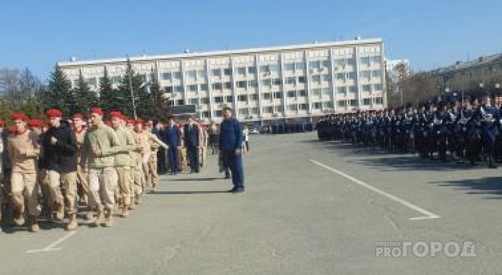 В Йошкар-Оле начались первые репетиции парада ко Дню Победы