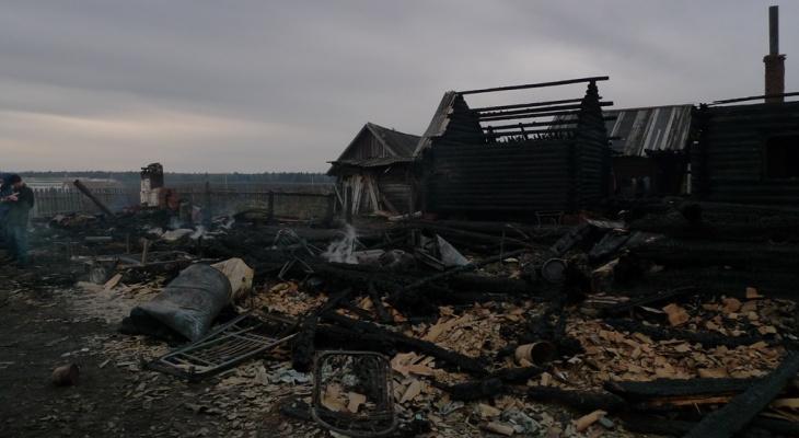 В одном из поселков Марий Эл вспыхнул деревянный дом (ВИДЕО)