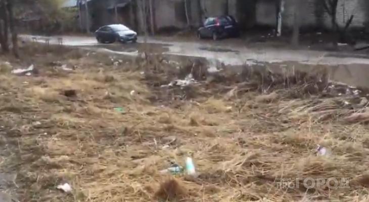 В йошкар-олинских дворах с приходом весны появились кучи мусора