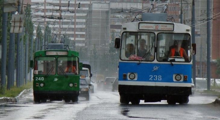 В Йошкар-Оле на время праздников изменится схема движения троллейбусов