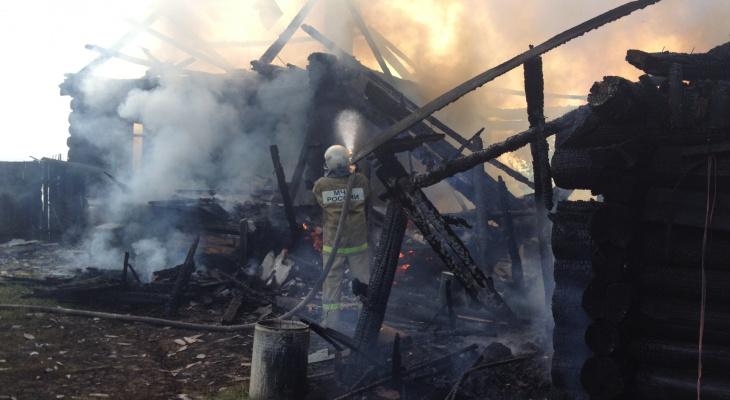 За последние сутки на территории Марий Эл сгорело три постройки