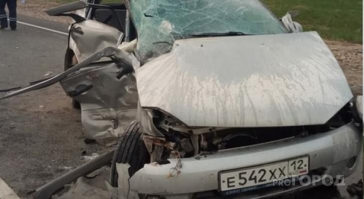 На трассе в Марий Эл произошло смертельное столкновение