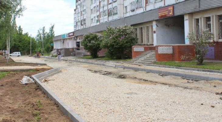 В Йошкар-Оле обновили тротуары на улице Эшкинина