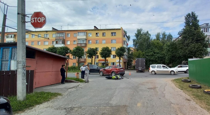 «За рулем была женщина»: появились подробности ДТП с мотоциклистом на Лебедева в Йошкар-Оле