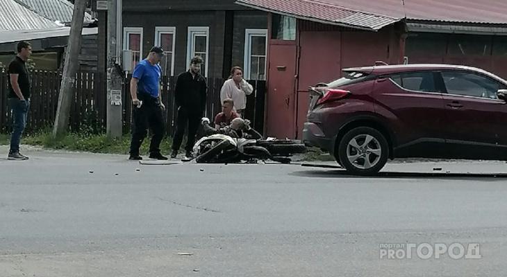 Полицейские просят откликнуться йошкаролинцев, которые стали свидетелями ДТП с мотоциклом на Лебедева