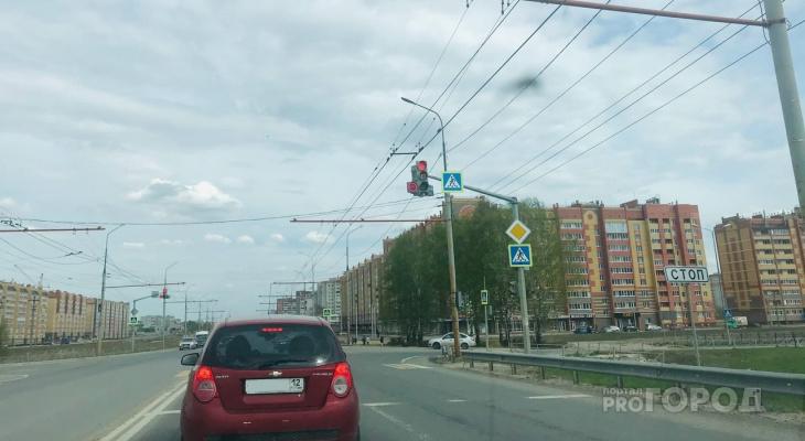 В пригороде Йошкар-Олы гроза вывела из строя светофор