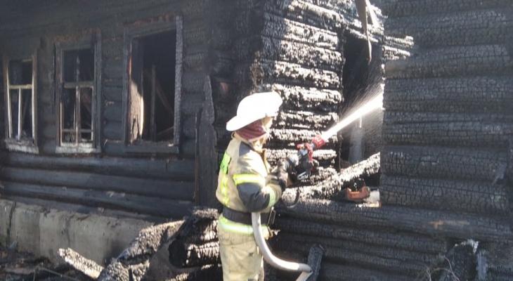 Утренний пожар сегодня в Марий Эл тушили 7 человек