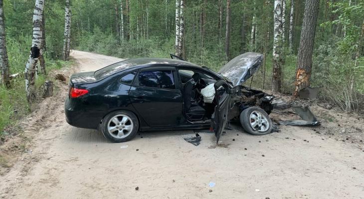 В Медведевском районе пьяный водитель врезался в дерево