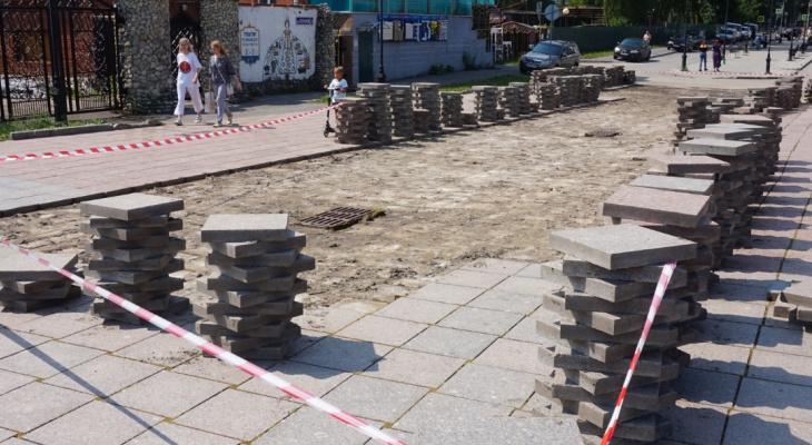 «Наконец-то дождались!» : в Йошкар-Оле начали ремонтировать набережную