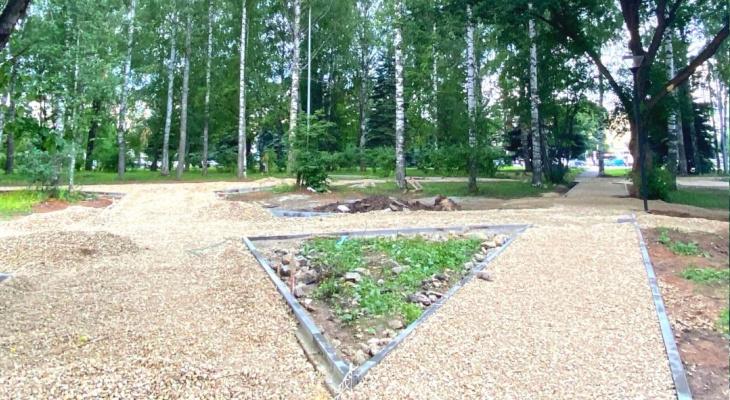 В Йошкар-Оле облагораживают западную часть центрального парка