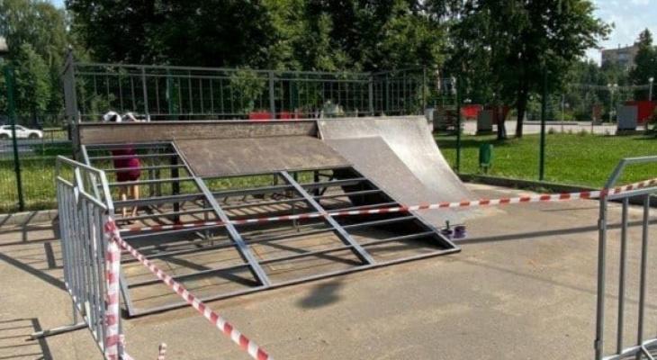 В Йошкар-Оле ремонтируют популярную скейт-площадку