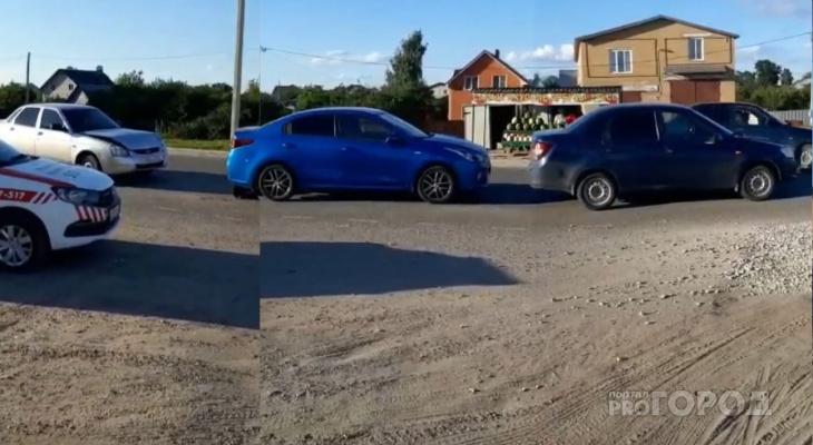 Утро в Йошкар-Оле началось со столкновения трех автомобилей