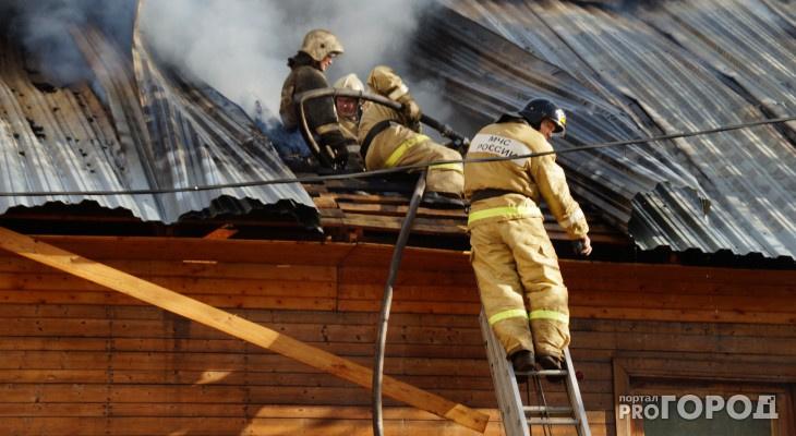«Ты горишь как огонь»: в Козьмодемьянске сгорела баня