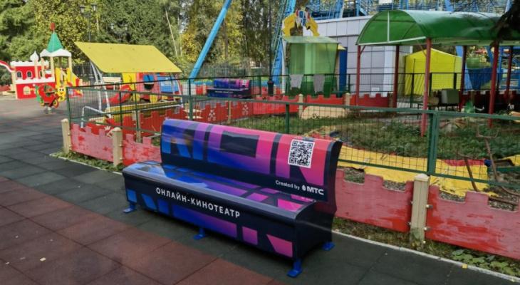 В Центральном парке культуры и отдыха Йошкар-Олы установили необычные скамейки